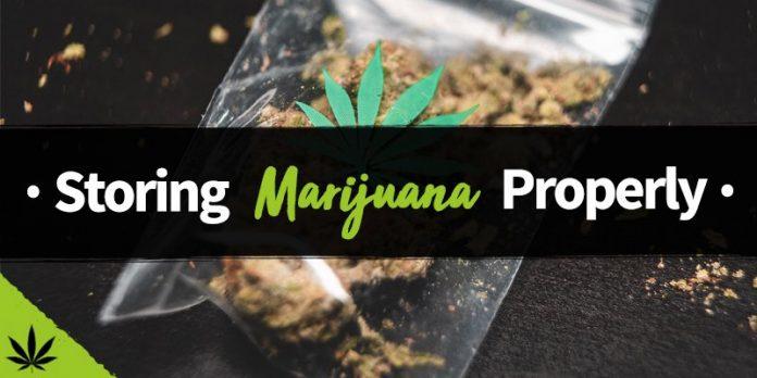 long term marijuana storage
